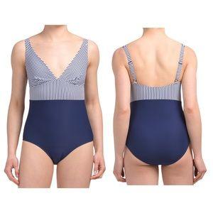 Nip tuck Sorrento Stripe Karen One Piece Swim Navy
